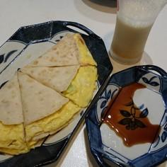 トルティーヤで台湾のネギパイ(卵入り)
