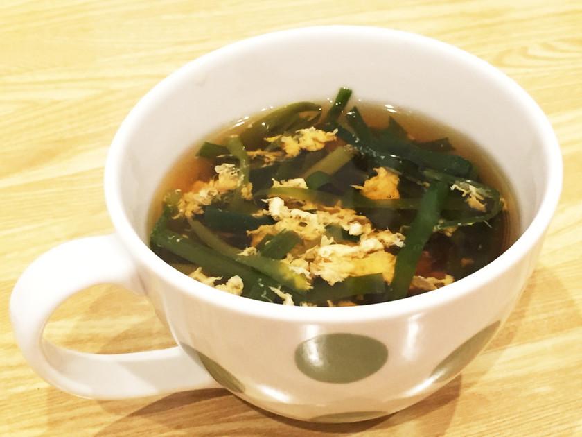 本当に簡単!ニラ玉スープ
