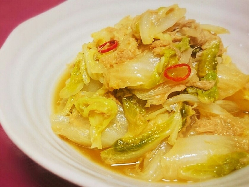 ✲白菜とツナのうま煮✲