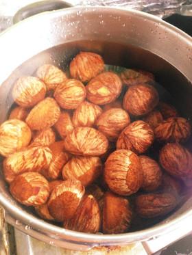皮むき簡単な栗の茹で方。渋皮煮に最適!