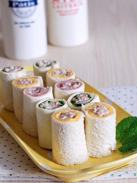 【お子様】ツナマヨロール☆サンドイッチ
