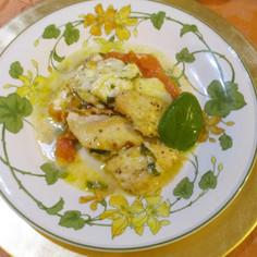 鶏胸肉とトマトのチーズグラタン