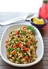 トルコ料理☆黒目豆と焼パプリカのサラダ