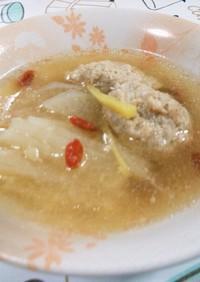 大根と肉団子の薬膳スープ