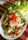 鶏肉と香味野菜のラープ(タイの和え物)
