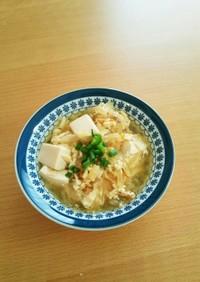 幼児食に☆めんつゆで簡単に豆腐の卵とじ
