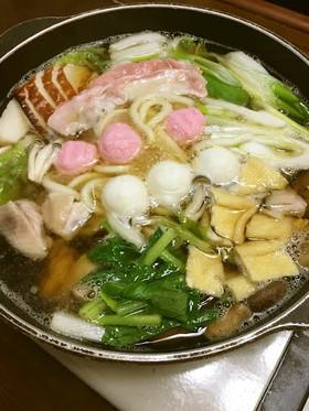 【超簡単・時短】定番鍋うどんすき出汁ダシ