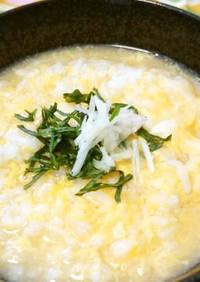 ぽかぽか、生姜と味噌のたまご雑炊