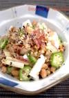 長芋とオクラの納豆ネバネバ和え