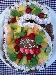 6歳の誕生日ケーキの写真