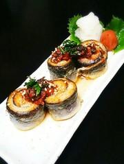 秋刀魚の梅香味焼きの写真