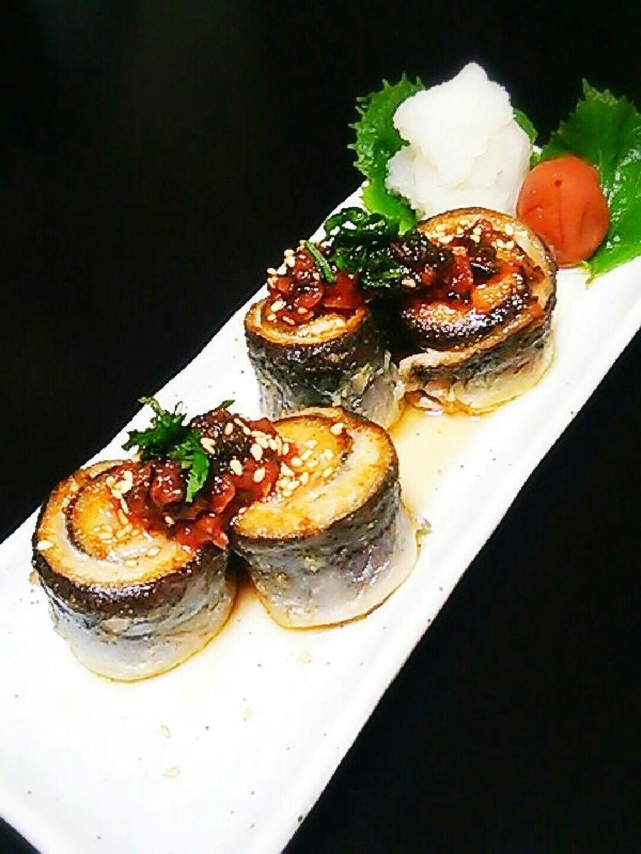 秋刀魚の梅香味焼き