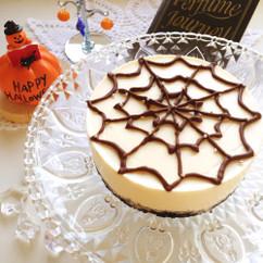 蜘蛛の巣のレアチーズケーキ