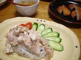 炊飯器deカオマンガイ(タイ風蒸し鶏飯)