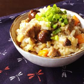 お肉ごろっ♡簡単炊き込みご飯*おこわ風