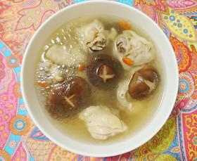 台湾の鶏肉にんにくスープ!