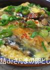 さんまの蒲焼缶詰DE卵とじ丼♪