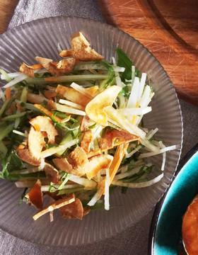 生で食べる!小松菜と大根のサラダ