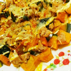母の味 ✨南瓜のツナチーズ焼き✨