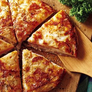 れんこんとハムのチーズガレット