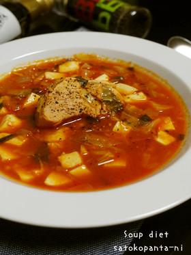 ダイエットにツナとお豆腐のトマトスープ♪
