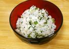 野沢菜としらすの混ぜご飯