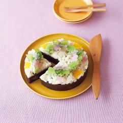 """和菓子で作るケーキ""""春の野"""""""