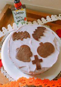 ハロウィンにさつまいもレアチーズケーキ