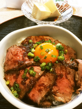 胃袋がっちり♡簡単ローストビーフ丼♡