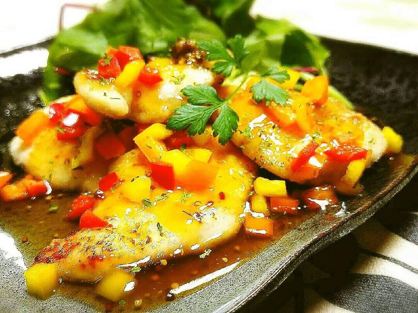 ◆さっぱり甘酢♪鶏肉の粒マスタードソテー