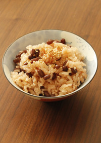 うるち米の土鍋炊きお赤飯