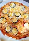 山田錦の玄米粉とすいかの子っこピザ