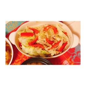 レンジで簡単♪キャベツとツナの温野菜✨