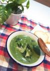 スピルリナのグリーンミルクスープ