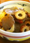 蒟蒻と竹輪のウスターソースチリチリ炒め