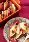 リンゴとさつま芋のレンジ重ね煮