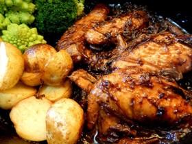 黒コショウをきかせた鶏の黒ビール煮