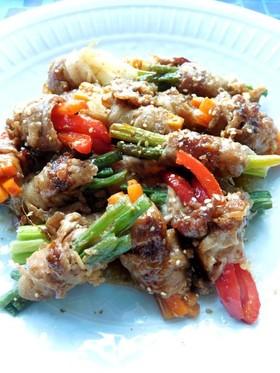 5種類の野菜の豚肉ロール
