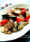 豚バラ肉とズッキーニの柚子胡椒ポン酢炒め