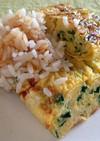 春菊のマヨたま焼きとこがし醤油ご飯