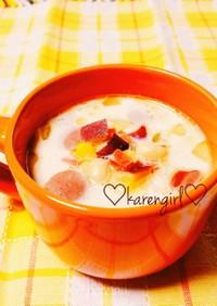♡さつまいもとお豆のミルクスープ♡