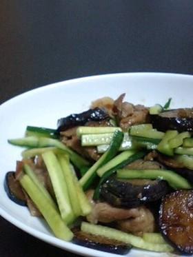 夏野菜と豚肉の醤油炒め