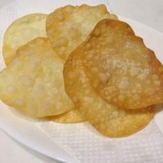 餃子の皮チップス