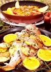 クリスマスパエリア&真鯛のオーブン焼き!