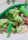 *簡単に!ベーコン&緑の野菜炒め*