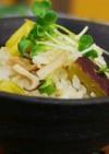 さつま芋とツナの炊き込みご飯