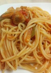梅干しが隠し味のトマトソースパスタ