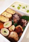 毎日男弁当⁂鯖竜田揚げとネギの豚巻き弁当