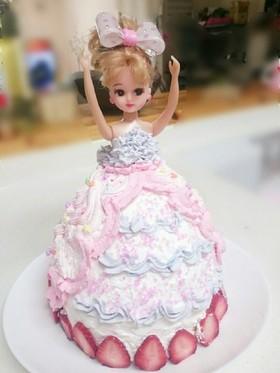 リカちゃんドールケーキ♡簡単♡デコケーキ