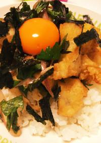 買った穴子天ぷらで簡単サッパリ薬味天丼♡